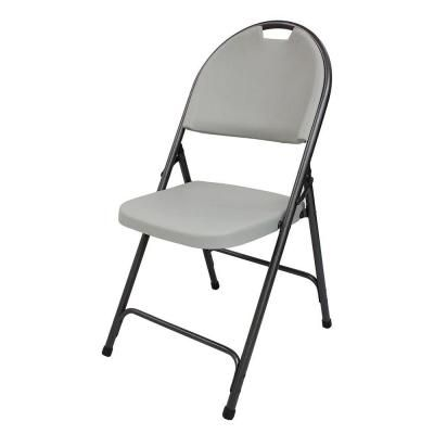 Hdx Resin Folding Chair In Earth Tan 1742 The Home Depot For The