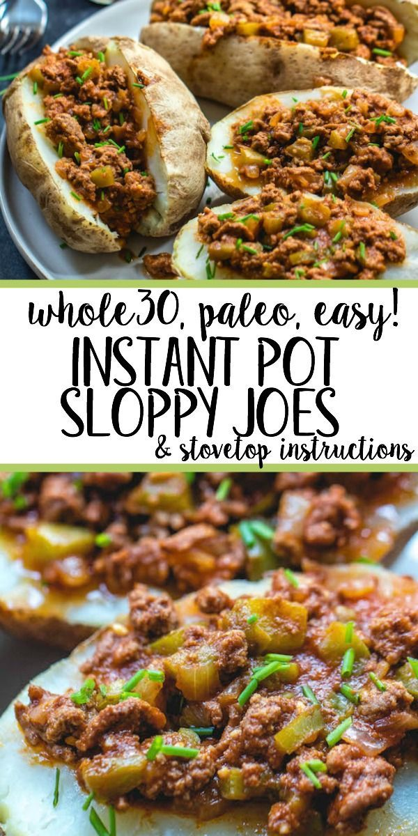 This Whole30 instant pot sloppy joes recipe is sure to be a new family favorite