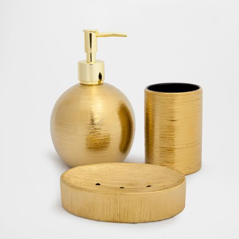 Gold Bathroom Accessories Uk gestreept aardewerken badkamerset | bathroom accessories, bathroom