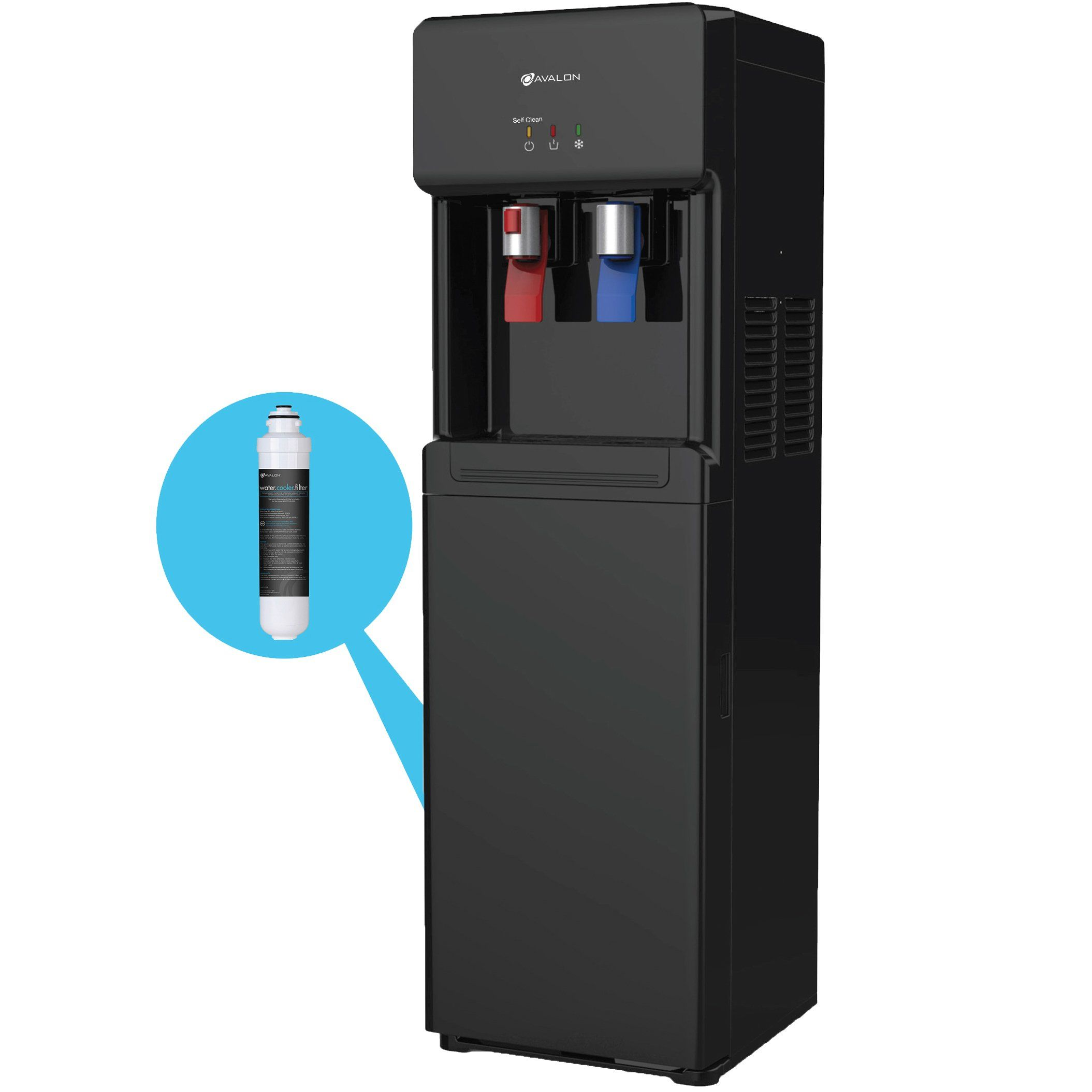 Avalon Self Cleaning Bottleless Water Cooler Dispenser with Filter ...