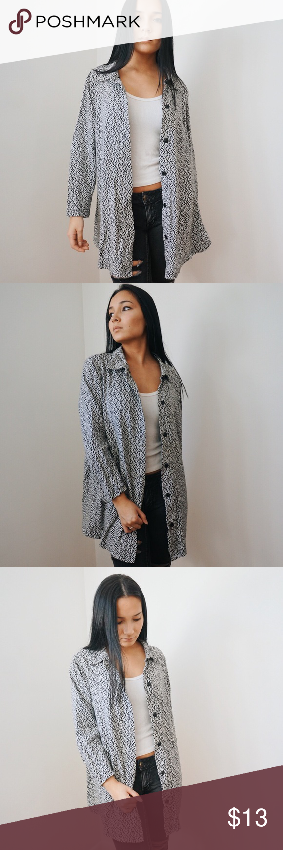 Knitted Dotted Long Button-up Sweater | Customer support