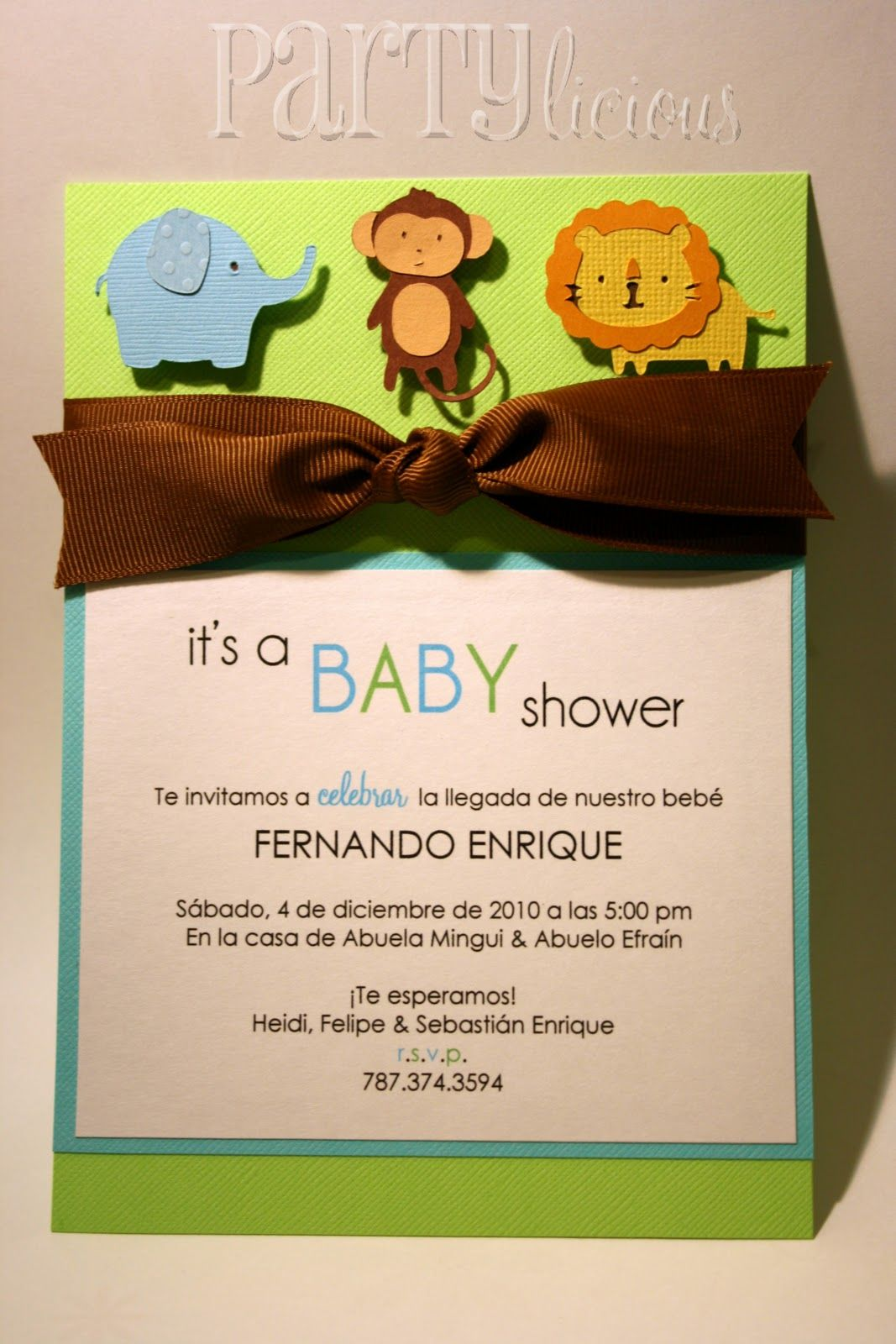 handmade monkey invitations for boys | Partylicious: {Partylicious ...