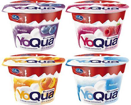 YoQua low fat protein rich yogurt from Emmi #packaging