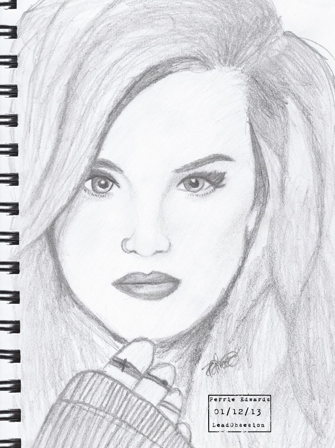Perrie Edwards from Little Mix drawing.