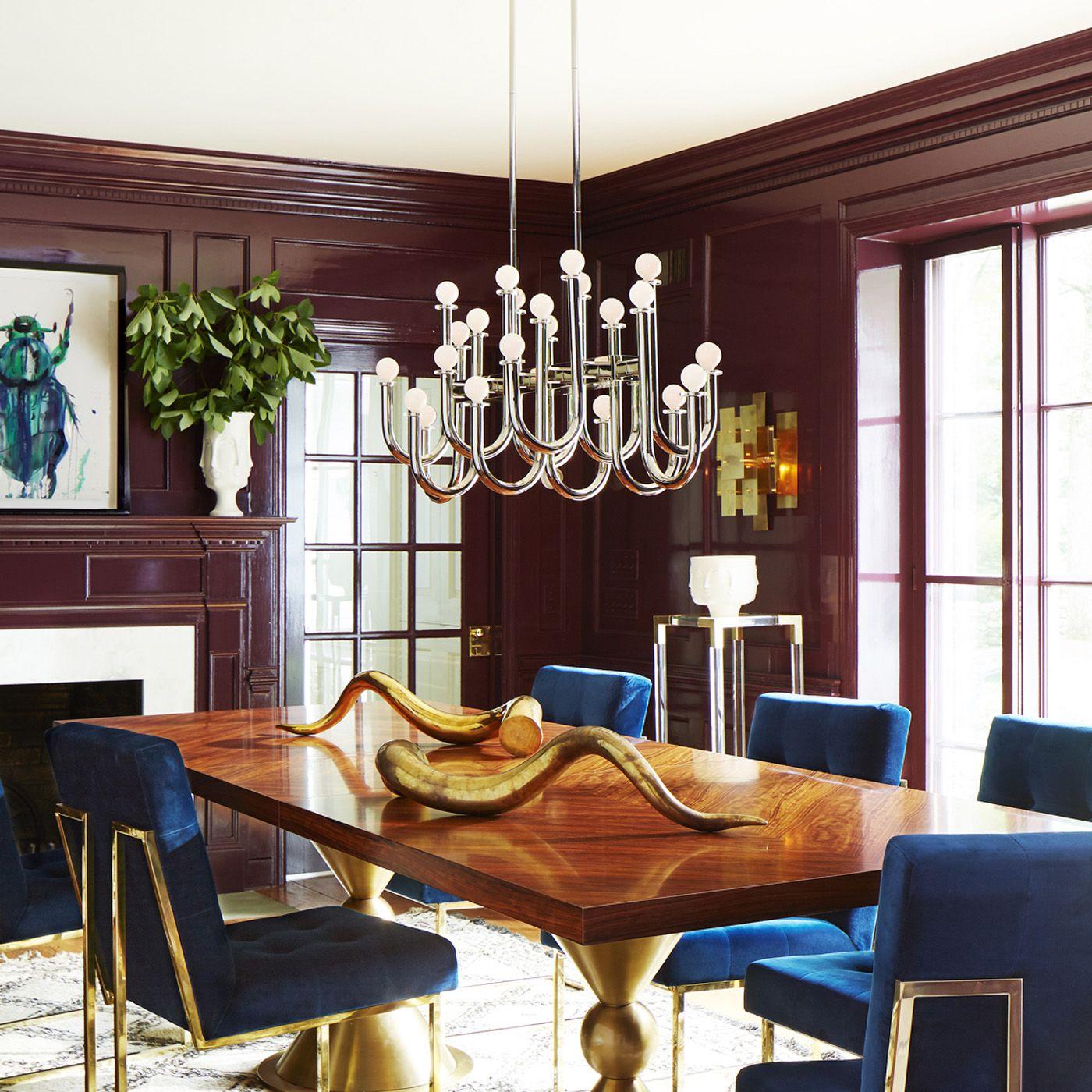 Jonathan Adler New Arrivals Modern Dining Table Dining Table Decor Mid Century Modern Dining Room Lighting