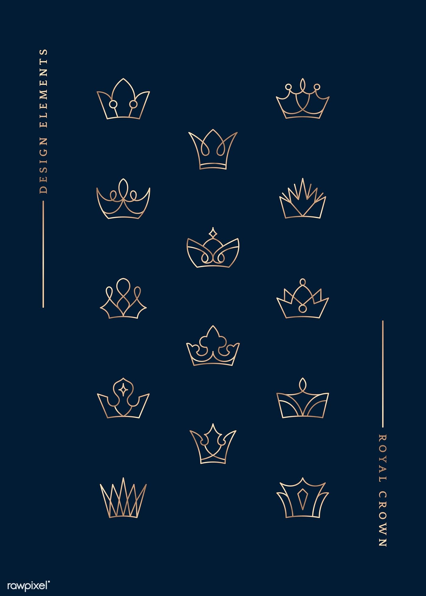 Download premium vector of Hand drawn royal crown doodle