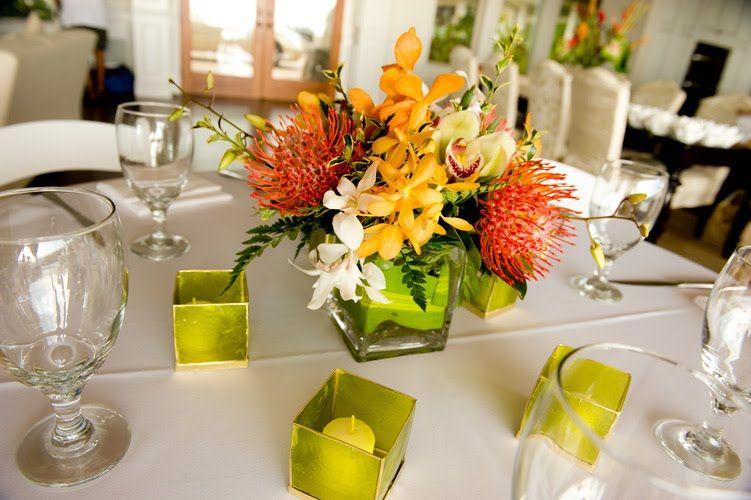 11 Amusing Tropical Wedding Centerpieces Ideas | Tropical ...