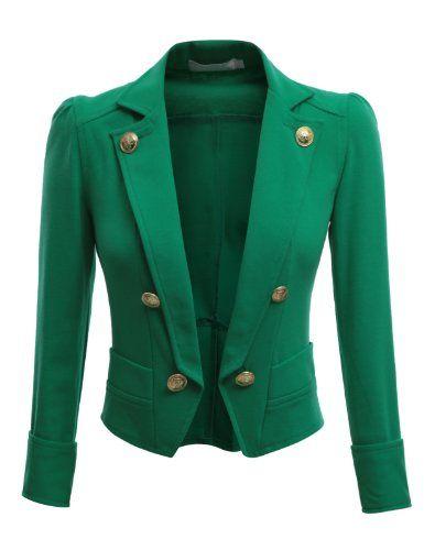 Doublju Womens Blazer with 3/4 Sleeve in Various Vivid Color KELLYGREEN M Doublju,http://www.amazon.com/dp/B009HMD5PO/ref=cm_sw_r_pi_dp_Fb2Xrb0NCNWZ1X4T