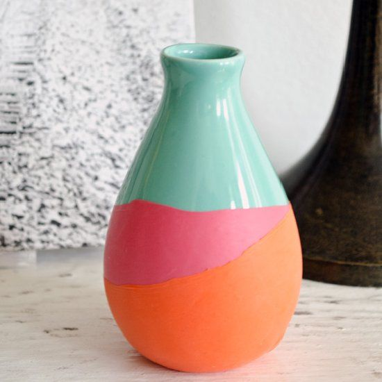 This Vase Looks Like It Was Dipped In Paint But It Was Not