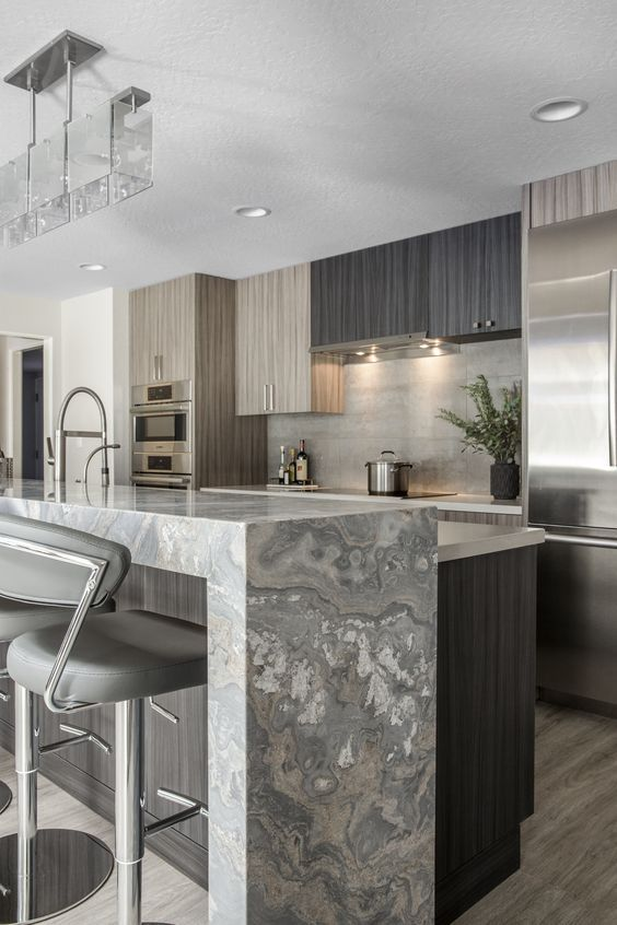 35 Simple Home Decor To Have This Year #waterfallcountertop