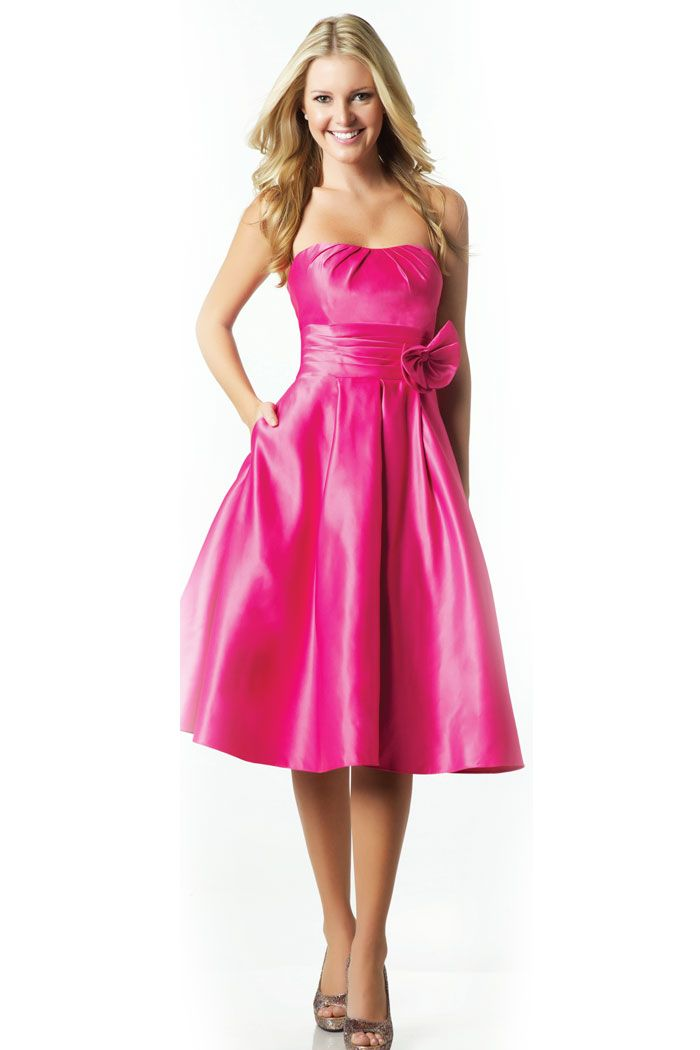 dfuschia bridesmaid dresses | Fuschia Cocktail length cheap ...