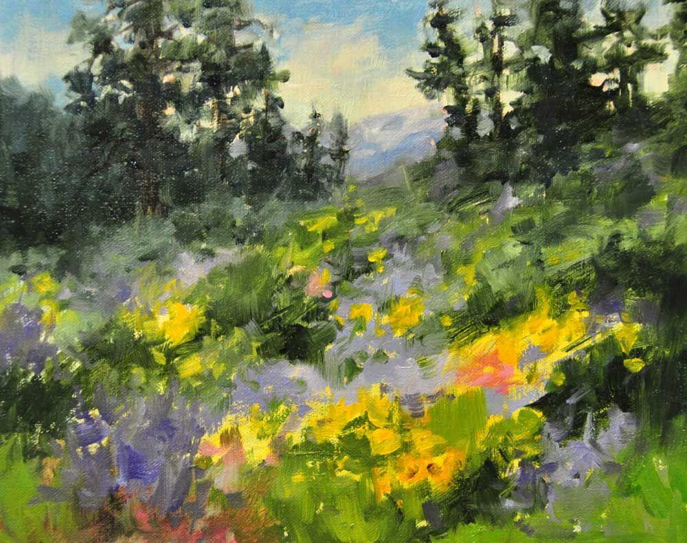 stjohn.Wildflowers.8X10-oil.750 | Landscape | Pinterest | Cuadro ...