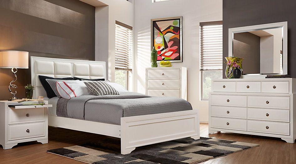 Bedroom Sets Queen Upholstered, Queen Size White Bedroom Furniture Set