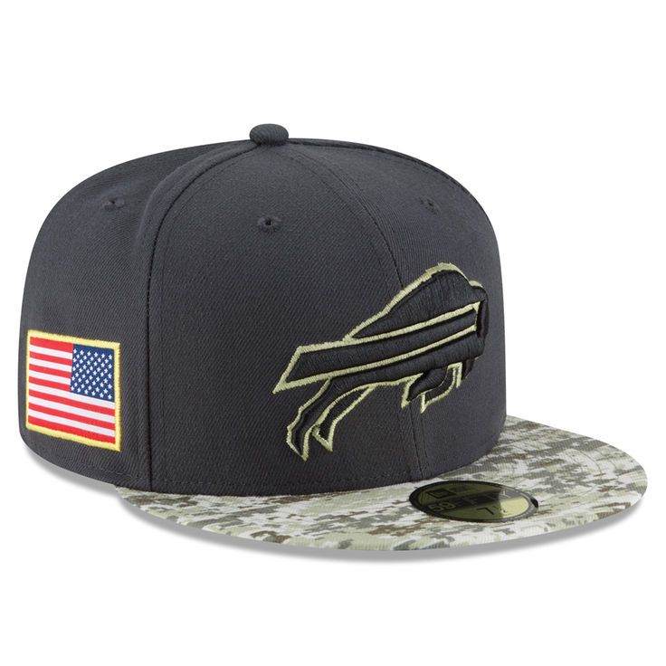 Buffalo Bills New Era Salute To Service Sideline Official 59FIFTY Fitted Hat - Graphite - $36.99
