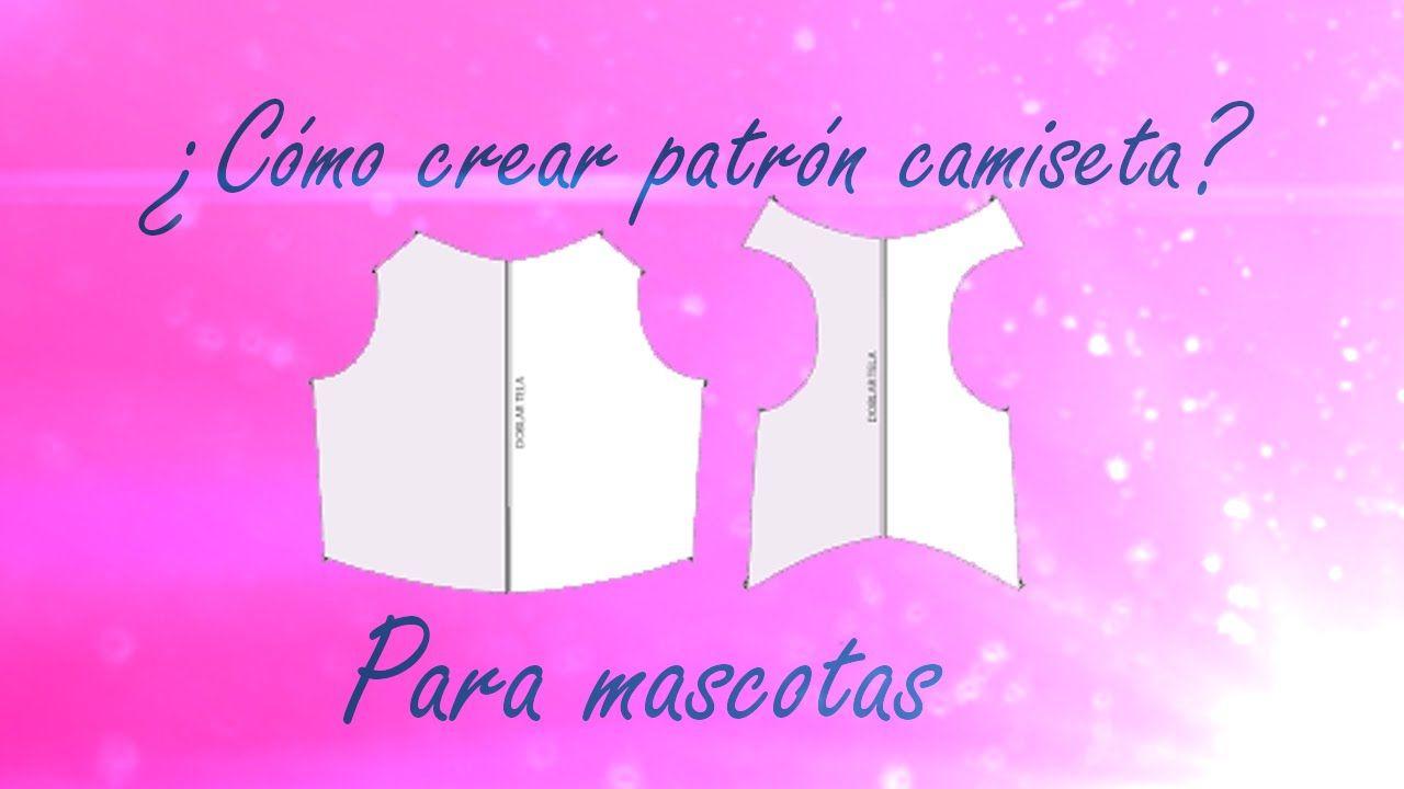 Hacer patrón de camiseta o buso para mascotas a medida PASO A PASO ...