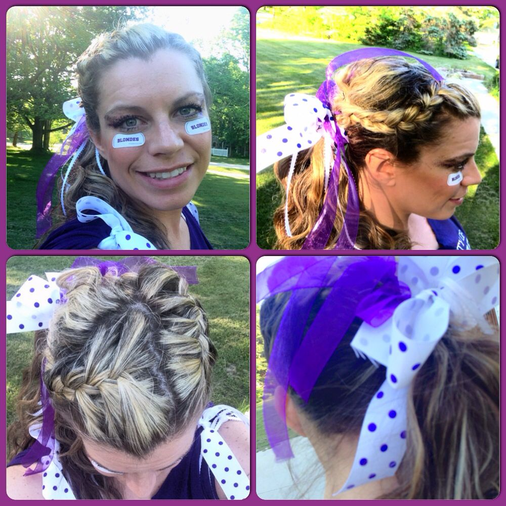 Perfect for sports - did this style on my hair yesterday