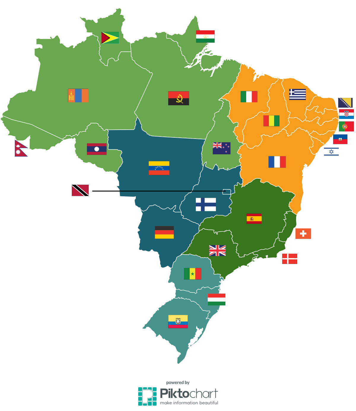 Real Size Of Countries World Map.The Real Size Of Brazilian States Compared To Other Countries