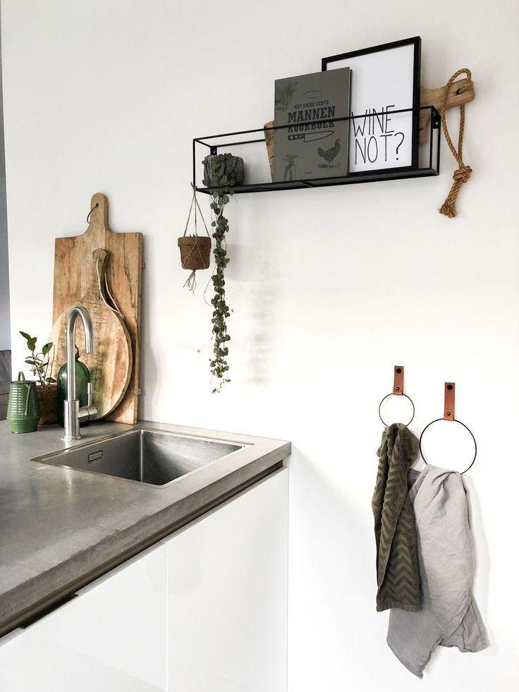Leren handdoekring | Wir zeigen schöne Ideen fürs Haus #minimalkitchen