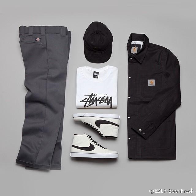 new style b7229 cca12 Stussy World Tour Tee, Nike Blazer