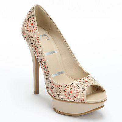 ELLE Peep-Toe Platform High Heels