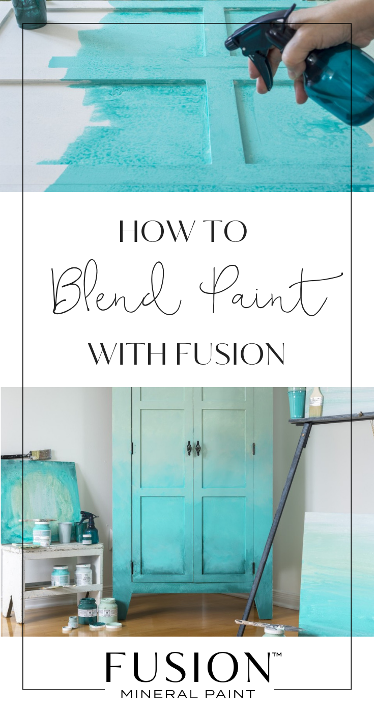 How To Blend Paint Create An Ombré Effect Fusion Mineral