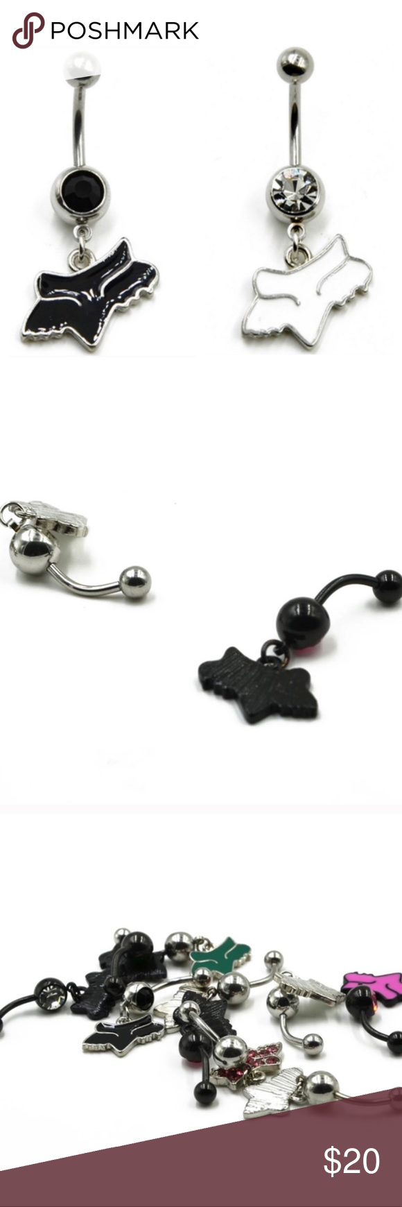 New Set Of 2 Fox Racing Navel Belly Rings Boutique Pinterest Fox