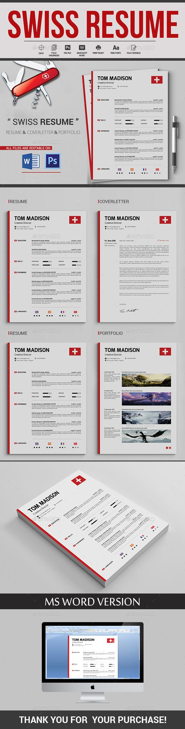 Swiss resume resume cv template and cv template swiss resume yelopaper Gallery