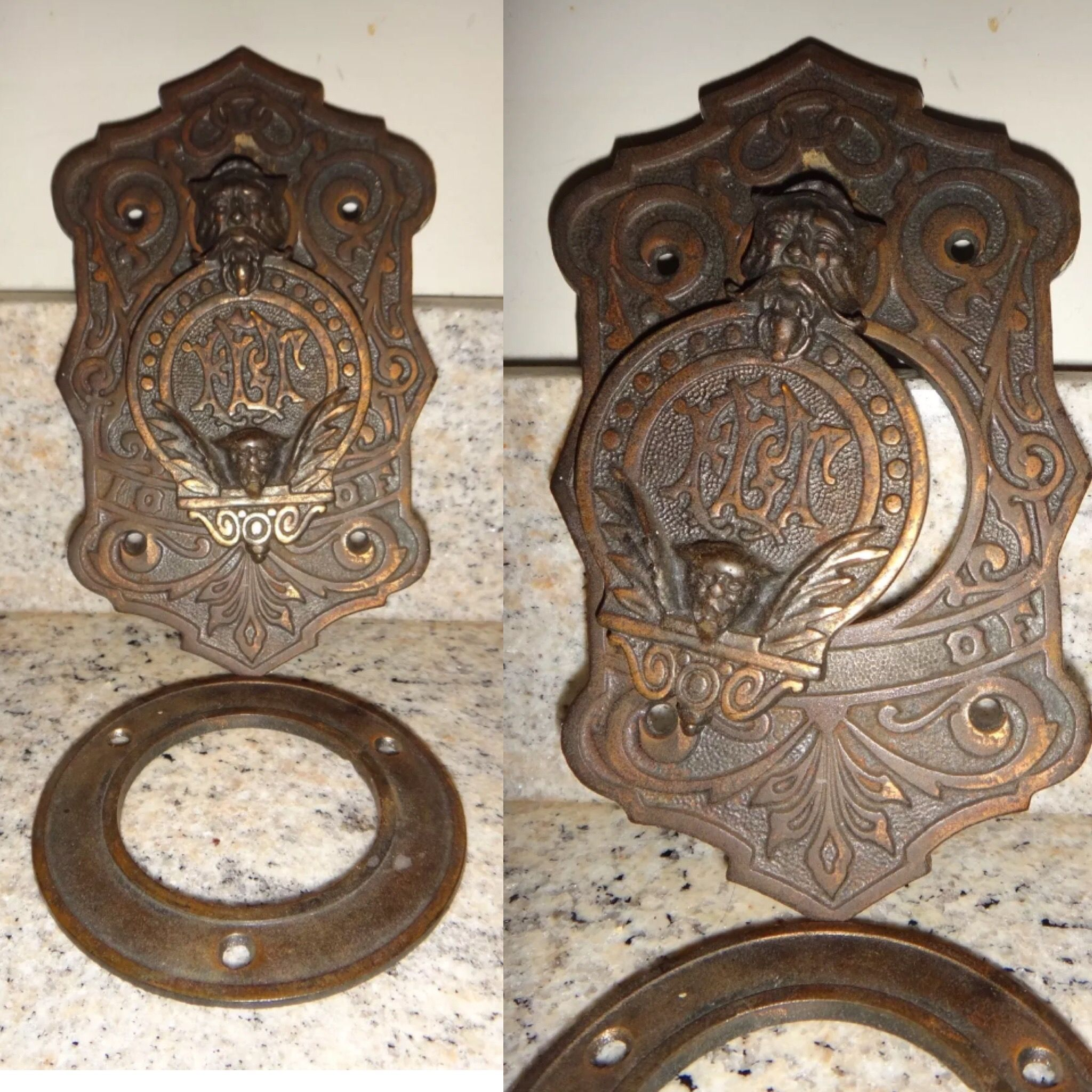 Love this peek hole, cast iron with copper plating... dreamy.