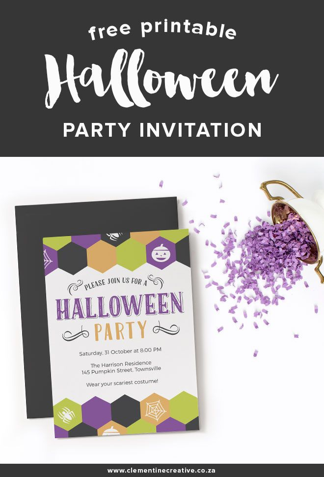 free printable halloween party invitation cohen pinterest
