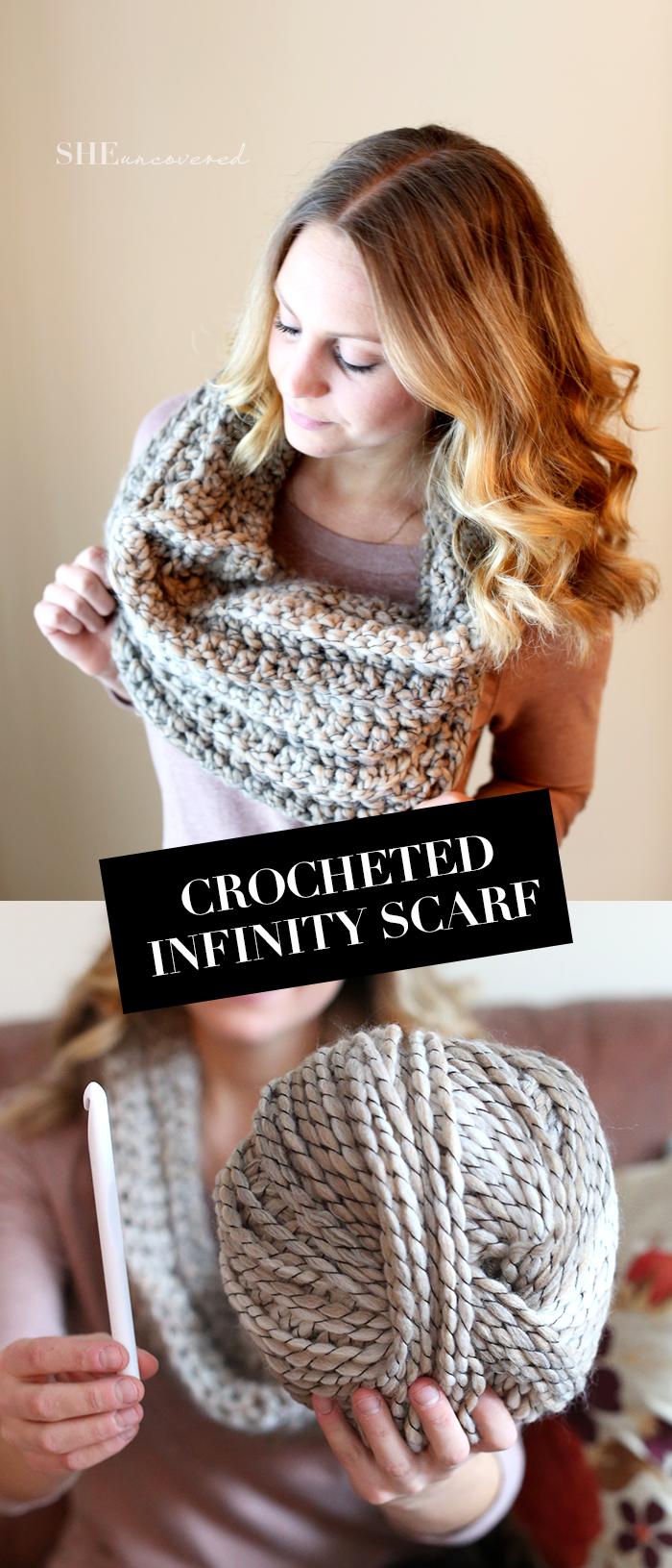 DIY: #Crochet Infinity Scarf   Crochet Scarves   Pinterest ...