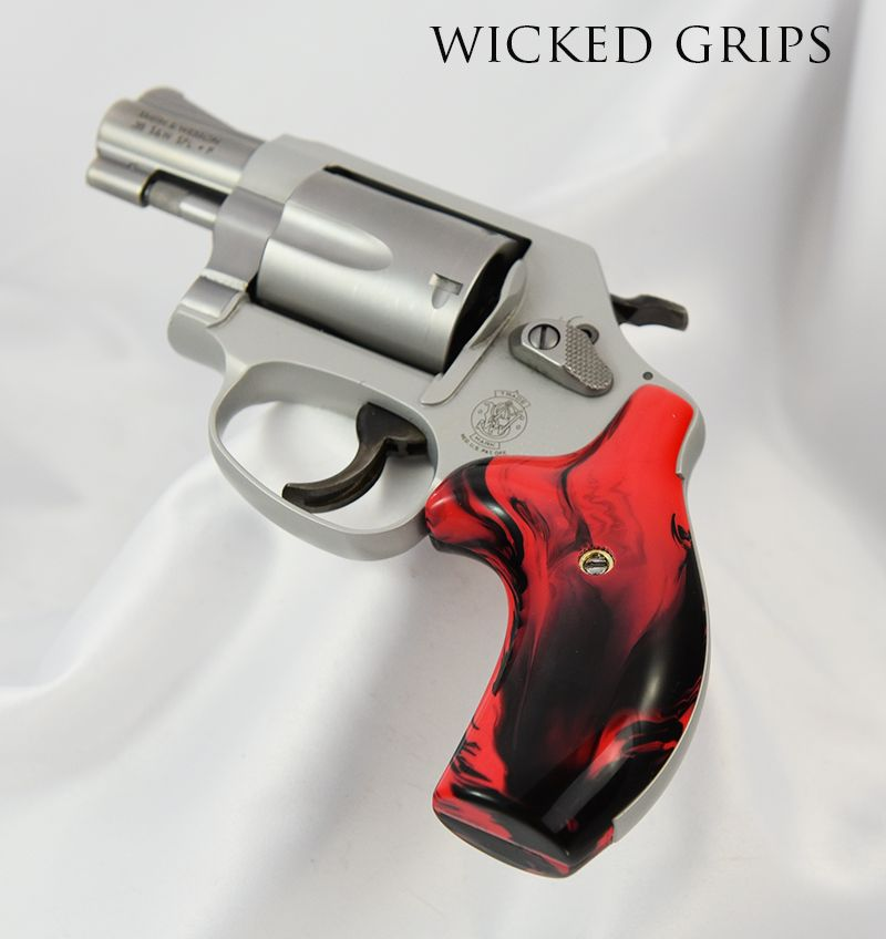 Custom smith & wesson j frame grips bloody basin jasper