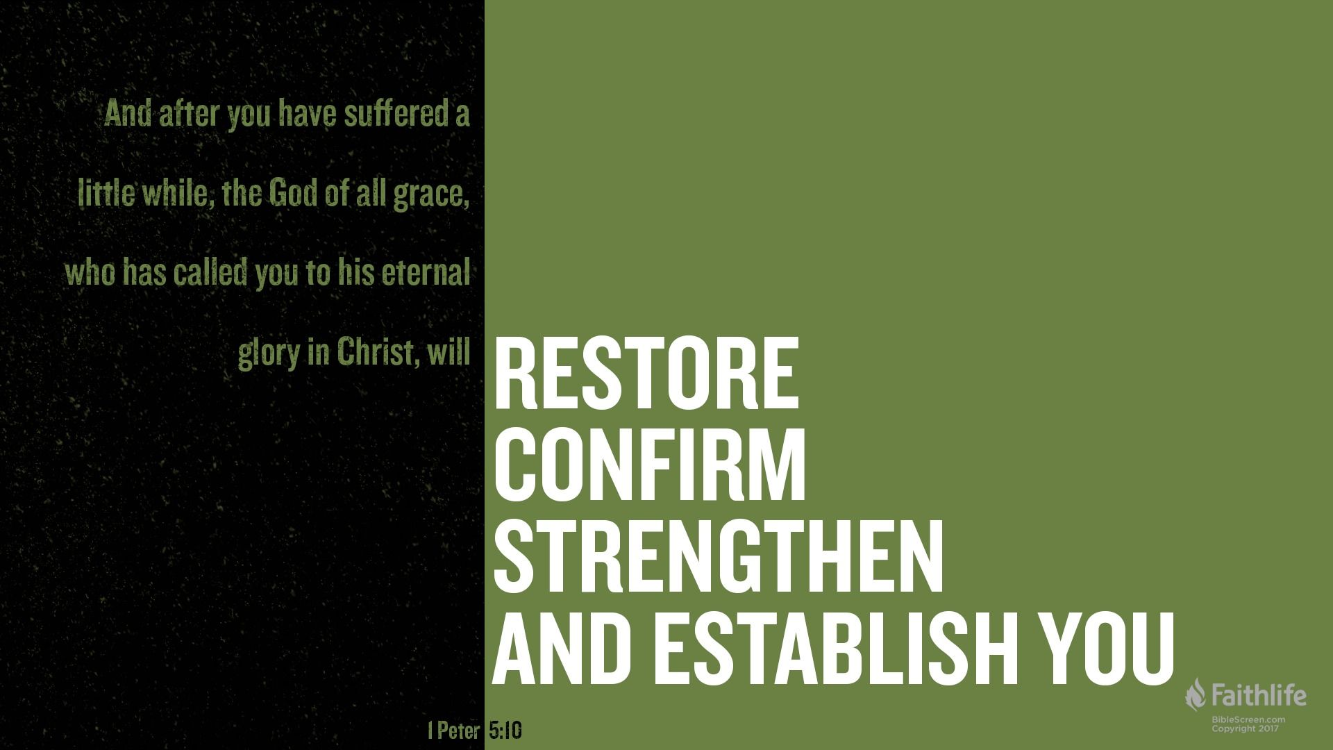 1 Peter 510 Scripture Art Graphic Bible verse for today