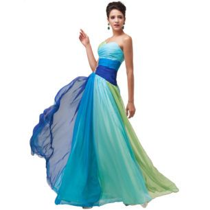 2582d74b9 Vestido largo con corset novia fiesta falda verde azul brillantes cinturon