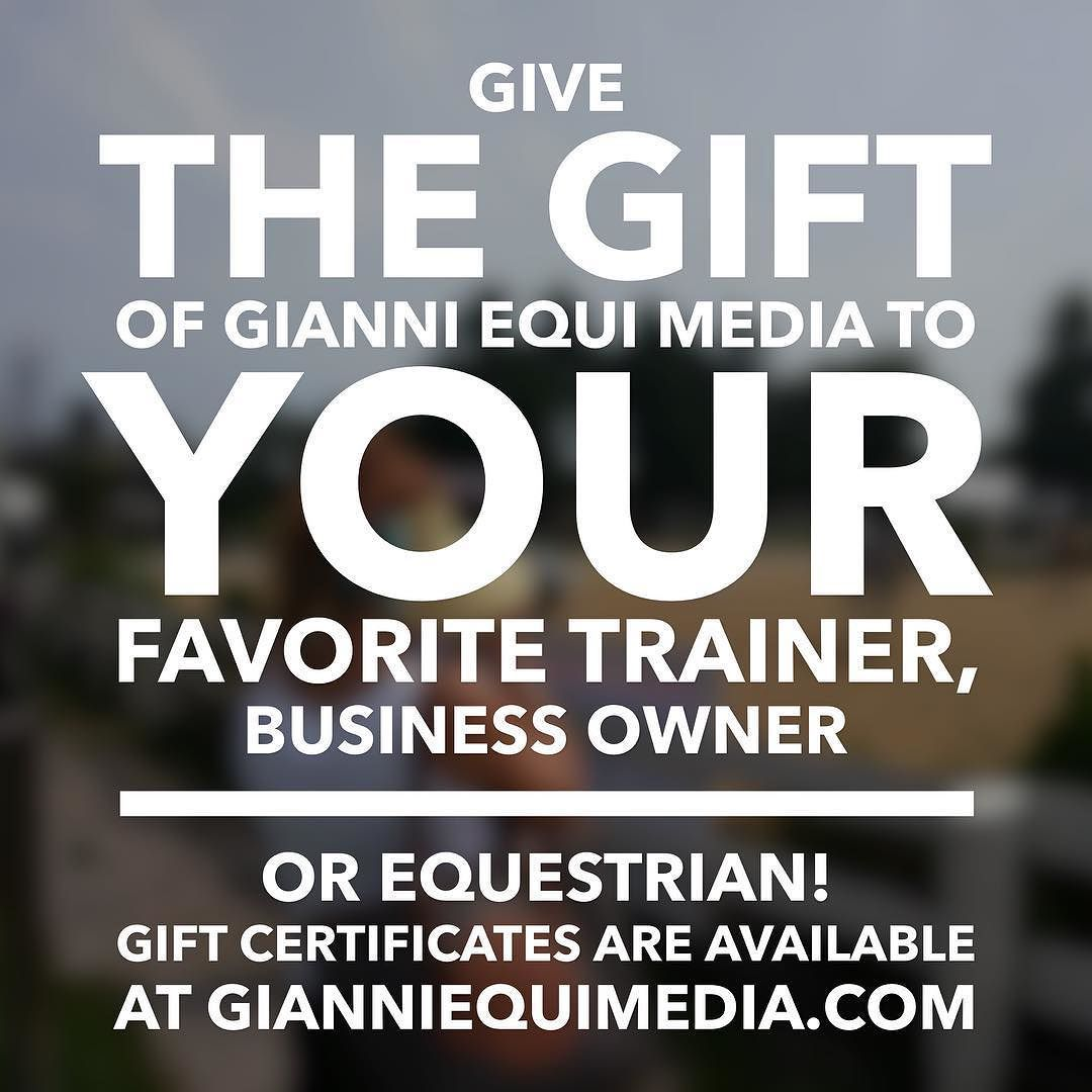 Purchase a gift certificate from Gianni Equi Media to give someone this Holiday Season! Gianni Equi Media offers social media account startup and management promotional strategy creation and management brand representation photography and much more! #GEMForChristmas #EquineIndustry
