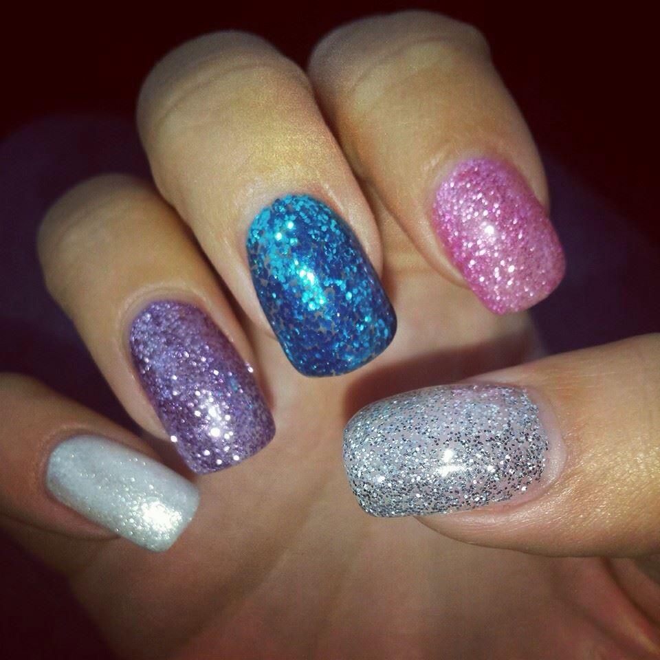 Glitter lcn gel nail design | Nails | Pinterest | Fabulous nails