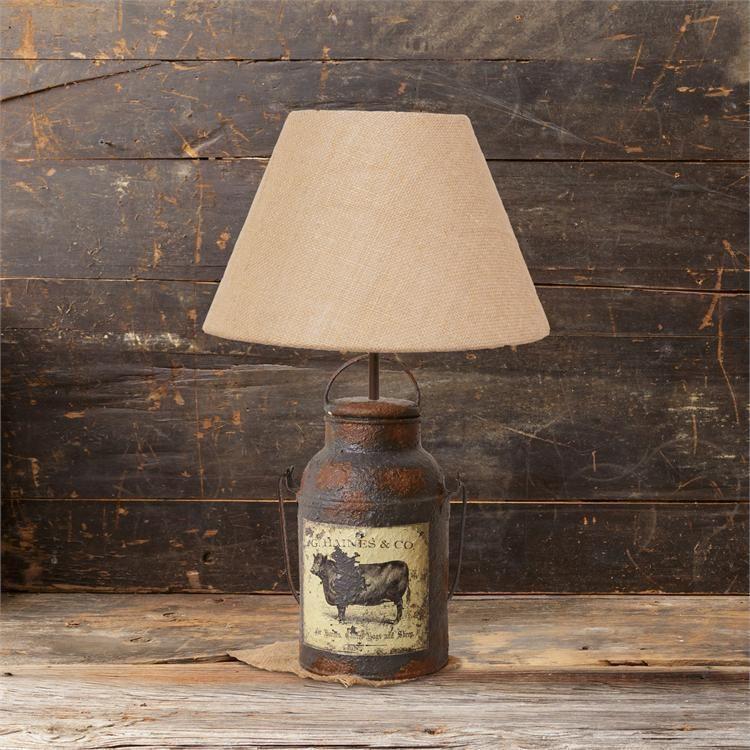 New Primitive Antique Style Rusty Cow Vintage Milk Can Lamp Electric Table Light Domashnij Dekor Torshery Dekor