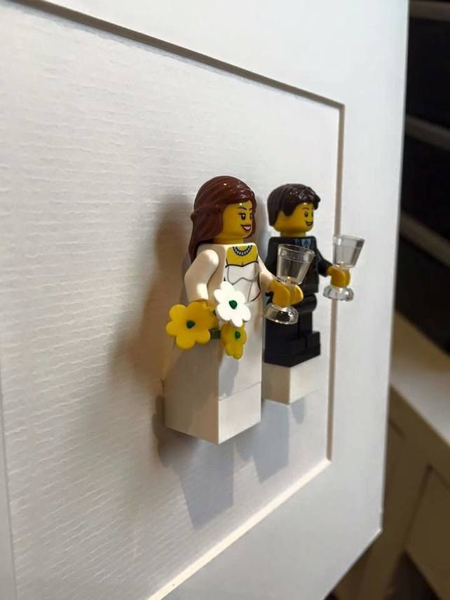 Lego Wedding Gift Framed Bride Groom Civil Ceremony