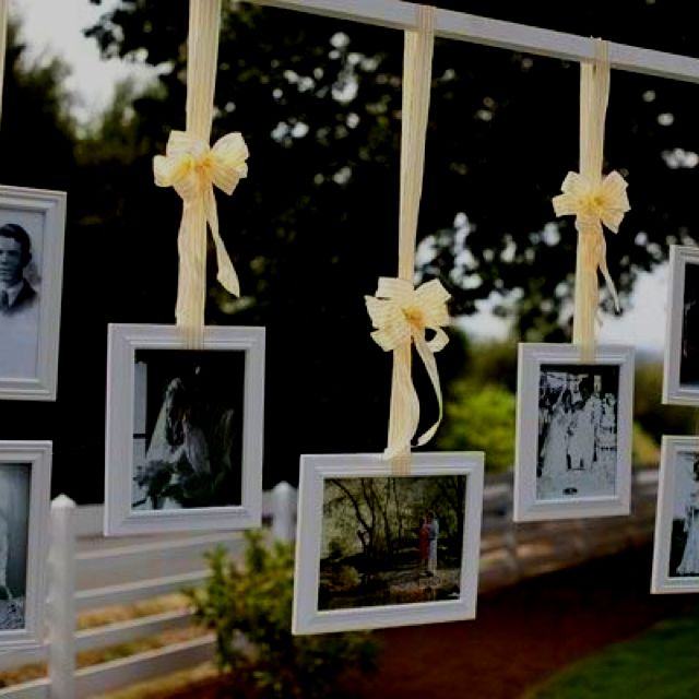 Love this idea for outside wedding.. Loved ones who has pass is incorporated in the wedding!!