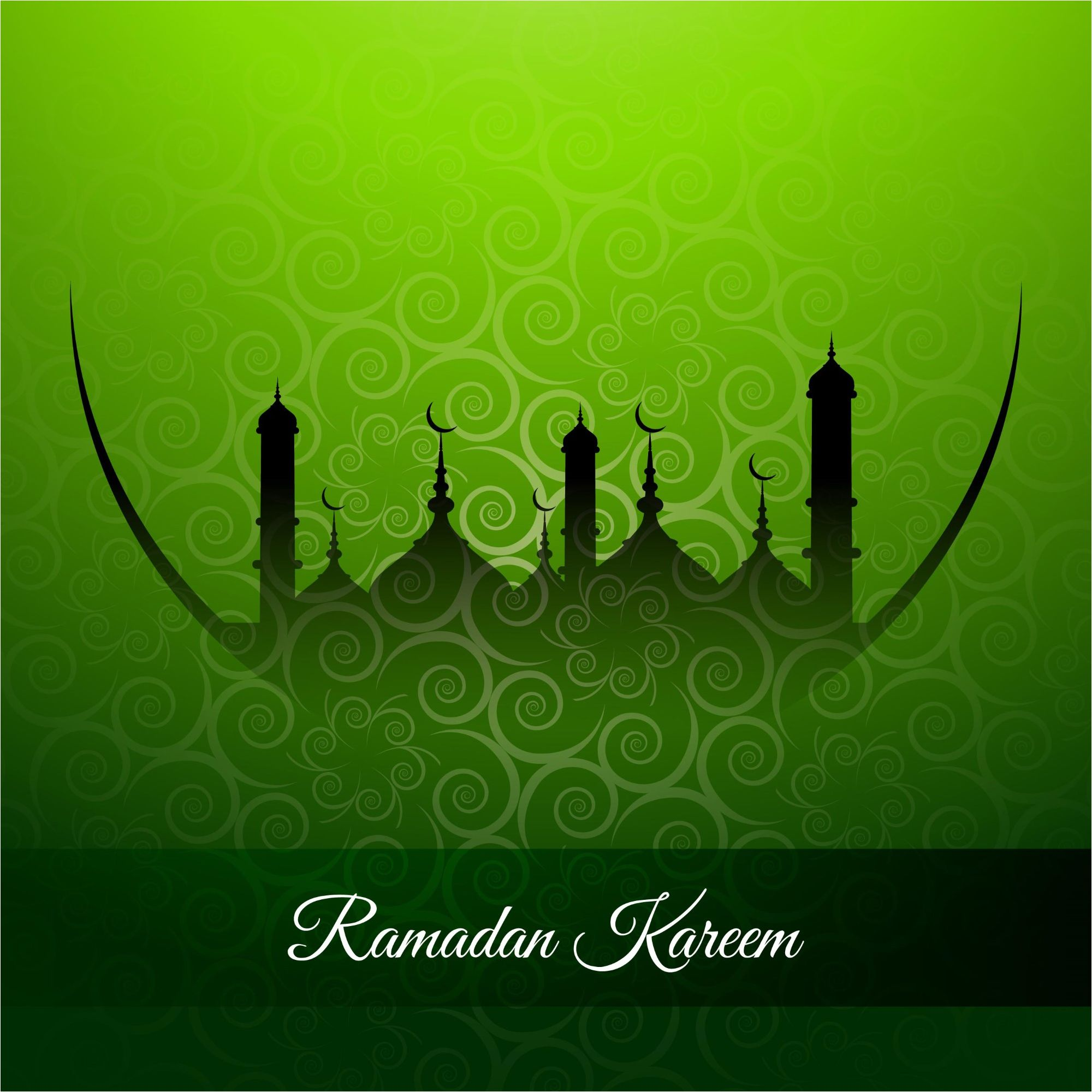 Ramadan Kareem Greeny Backround Vector Wallpaper Cgvector