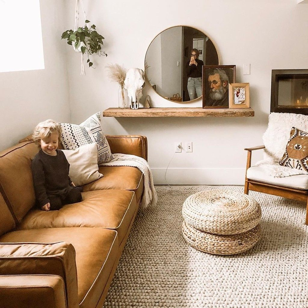 Hira Natural Ivory Rug 8 x 10 is part of Boho living room - Step things up  Thick strands of wool blend are woven by hand into a long looped pile that creates an elegant, uneven texture  Shop Now!