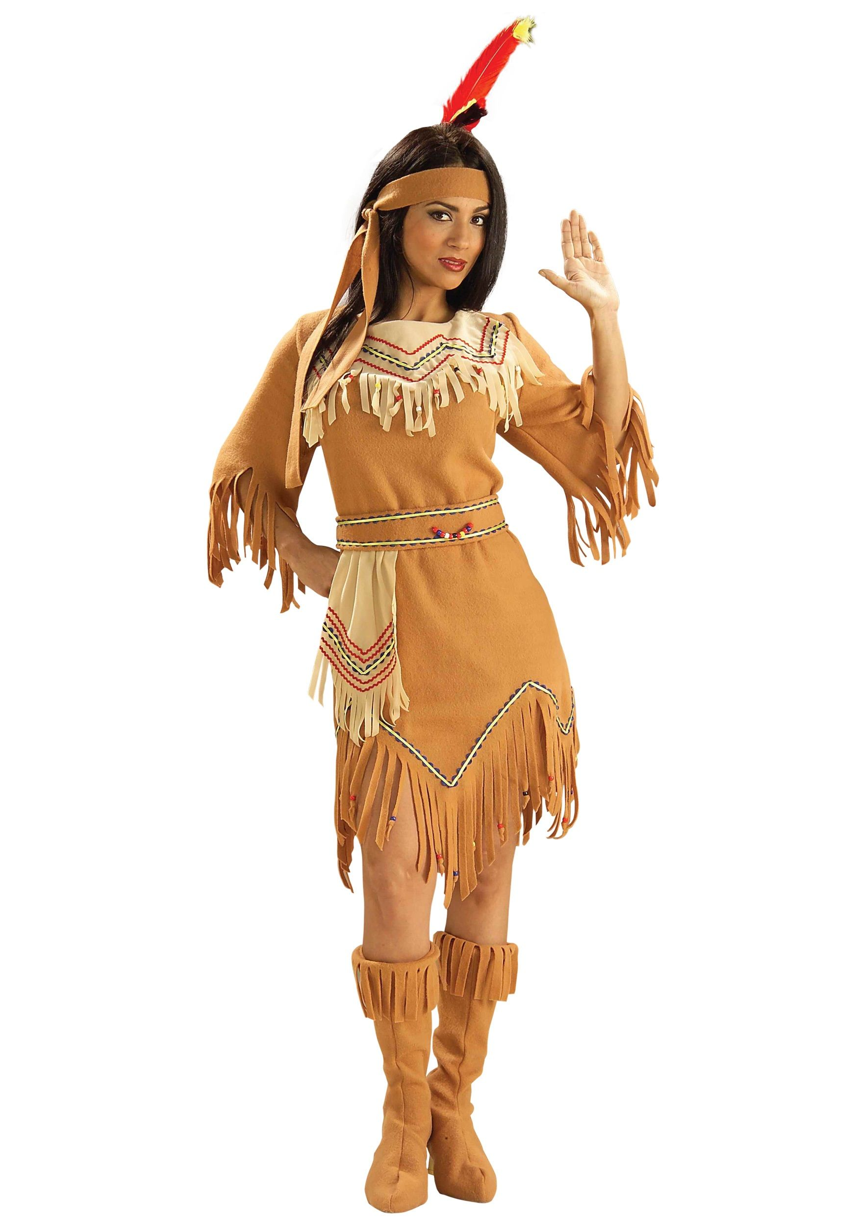 This Indian costumes traditional look will impress all of your Halloween guests. The costumes Native American look is fun for Halloween or theme parties!