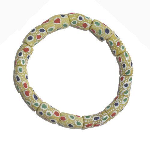 Glass Tube Beads Handmade Krobo Ghana by ExoticBeadHaven on Etsy