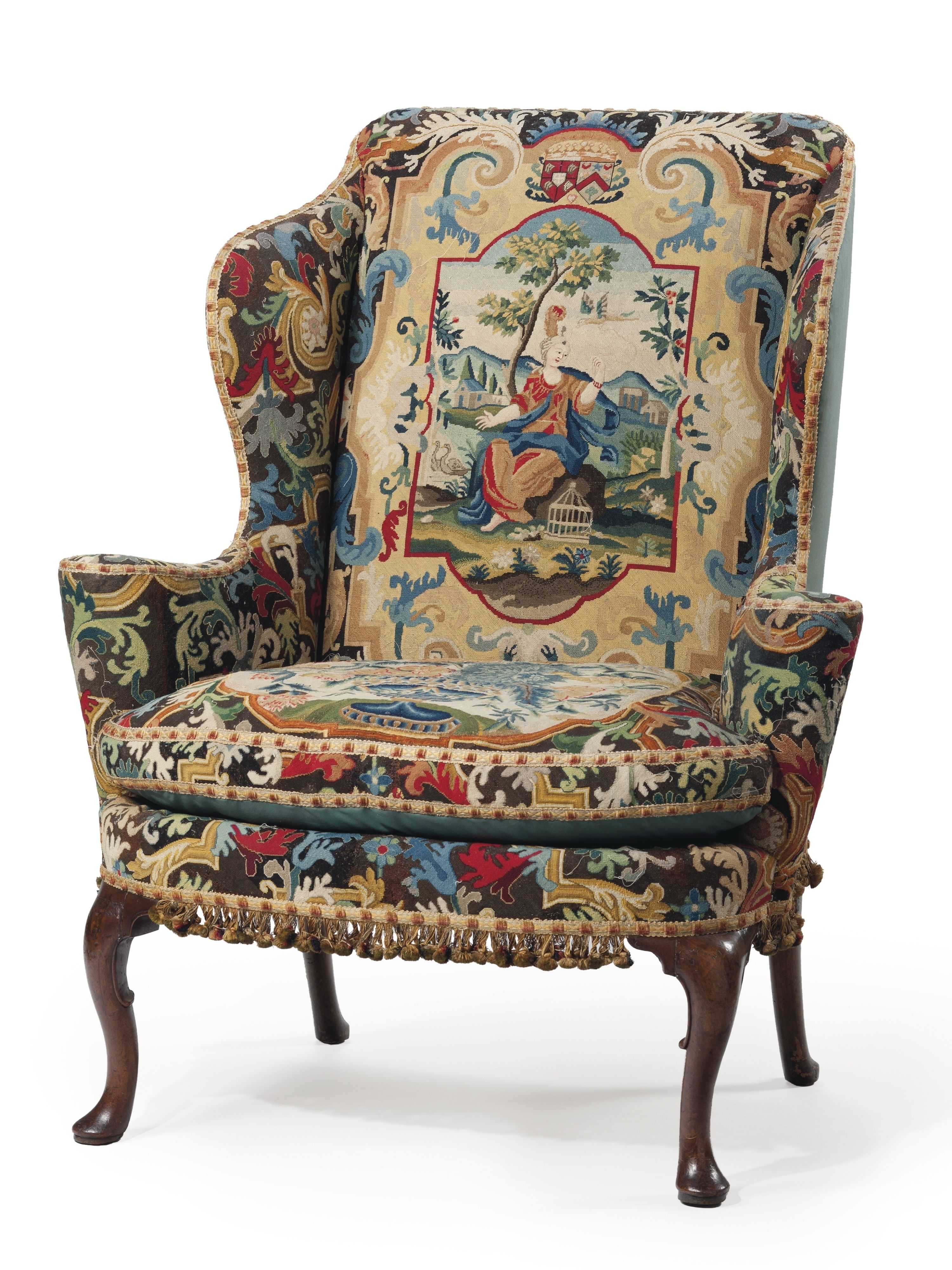 Hugette Clark One Of Her Pieces An 18th Century Chairs In Perfect Condition