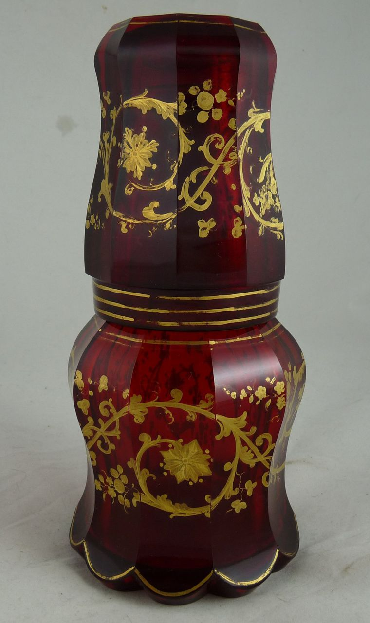 Victorian Ruby Glass Bedside Carafe
