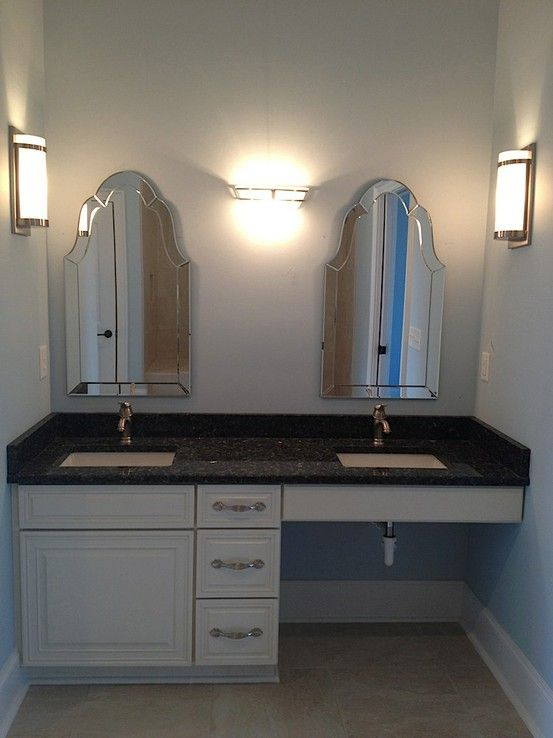 Wheelchair accessible master bathroom sink