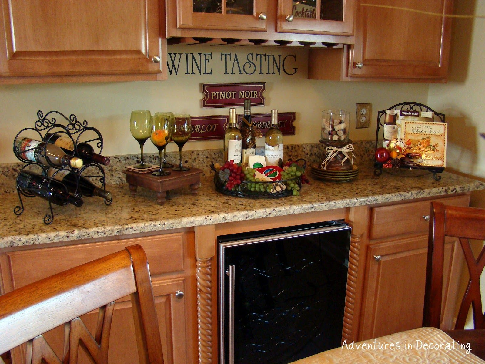 adventures in decorating | wine theme kitchen, grape kitchen decor, kitchen decor themes