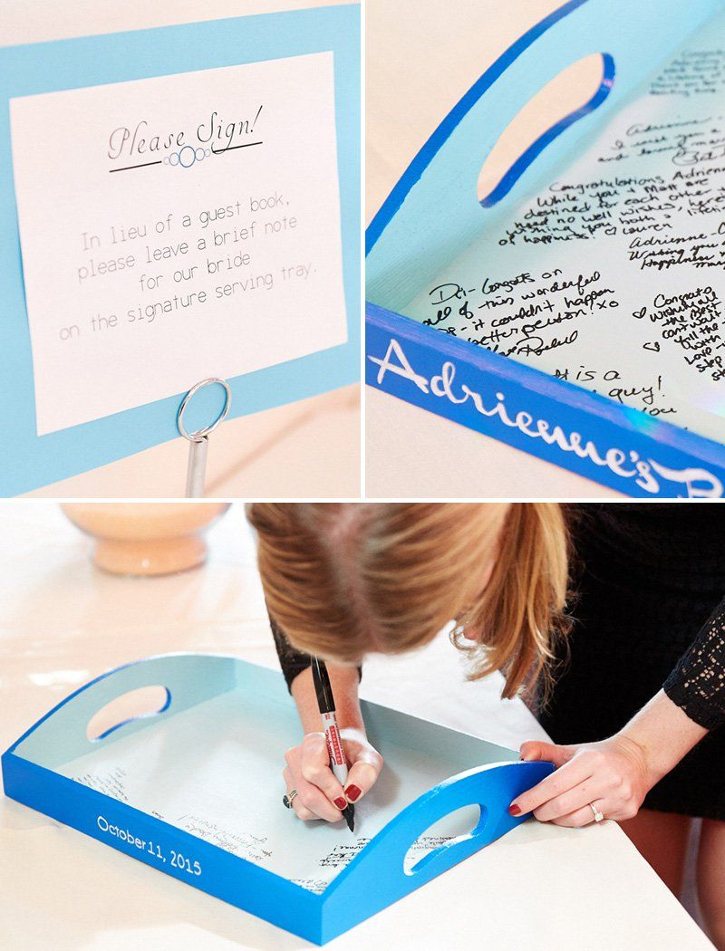 Serving Tray Guest Book