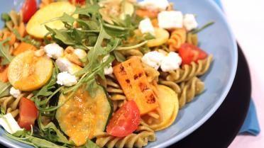 Dagen Zonder Vlees: pasta met feta en gegrilde groenten