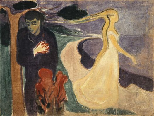 """Separation"" - 1896 - Edvard Munch (Norwegian, 1863-1944) - Egg tempera on canvas - 960 x 1270 mm - Munch Museum, Oslo"