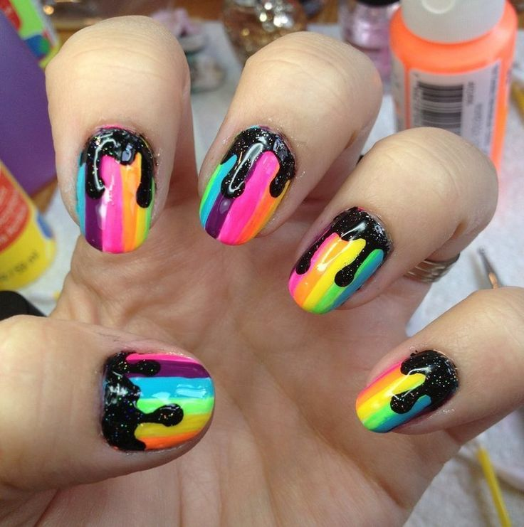 17 Best Images About Dripping Paint Nail Art On Pinterest Nail